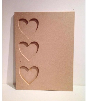 Freestanding MDF Plaque with Heart Photo Frames