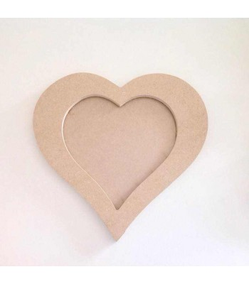 MDF Single Heart Photo Frame with Acrylic Front