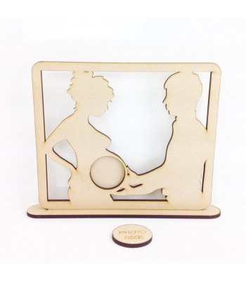 Laser Cut Couple Baby Scan Photo Frame - Design 3 - 6mm