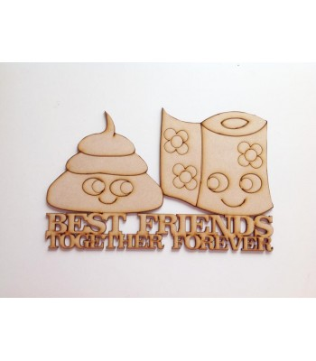 Laser Cut 'Best Friends, Together Forever' Funny Sign