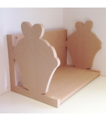 Routered 18mm MDF Quality Flat packed Cupcake Book Shelf