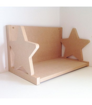 Routered 18mm MDF Quality Flat packed Star Book Shelf
