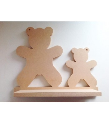 Routered 18mm MDF Quality Flat packed Teddy Bears Shelf
