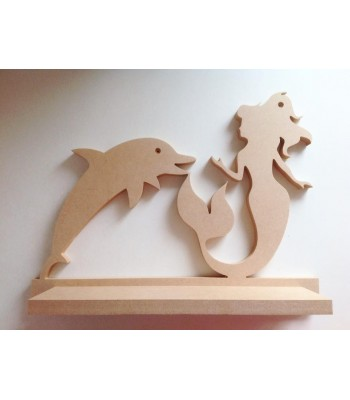 Routered 18mm MDF Quality Flat packed Mermaid Shelf