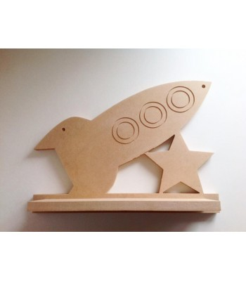 Routered 18mm MDF Quality Flat packed Space Rocket Shelf