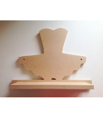 Routered 18mm MDF Quality Flat packed Ballet Tutu Shelf