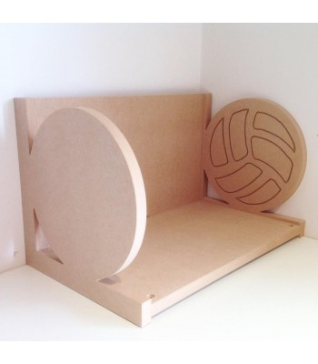 Routered 18mm MDF Quality Flat packed Football Book Shelf