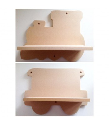 Routered 18mm MDF Quality Flat packed Train Shelf - With options to add Carriage Shelves