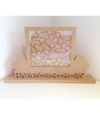 Freestanding MDF Unique Design 'Happy Birthday' Drop Box