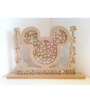 Freestanding MDF Personalised Unique Design Childrens Birthday Drop Box