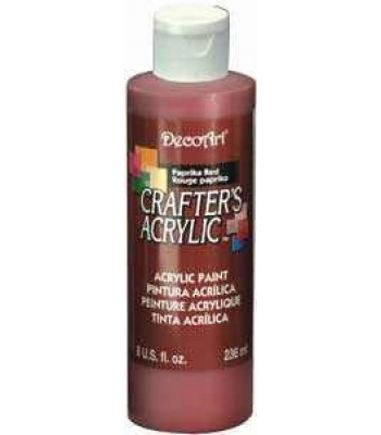 Acrylic (Crafters Acrylic) Paprika Red Crafters Acylic