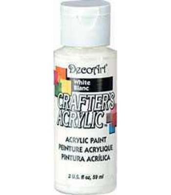 Acrylic Crafters Acrylic White Decoart 2oz