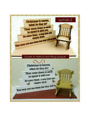 Option 2 for our christmas in heaven blocks with stencil wording