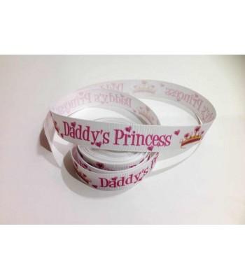 Daddy's princess printed ribbon Grosgrain ribbon Price per meter
