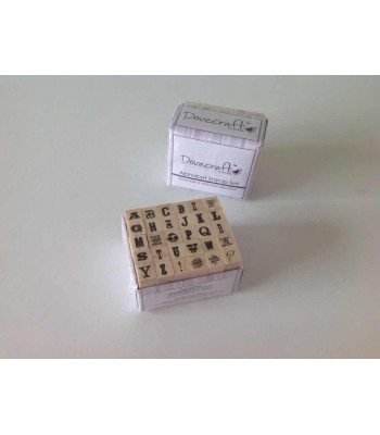 SET OF 30 ALPHABET/PUNCTUATION RUBBER STAMPS - 01