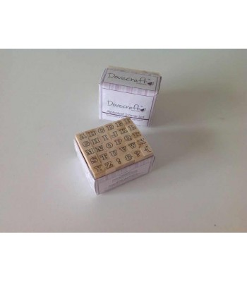 SET OF 30 ALPHABET/PUNCTUATION RUBBER STAMPS - 010