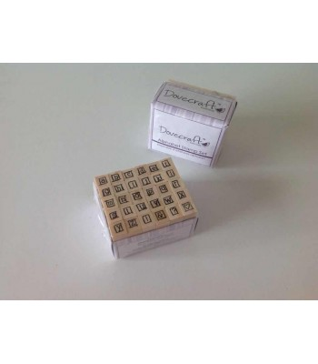 SET OF 30 ALPHABET/PUNCTUATION RUBBER STAMPS - 012