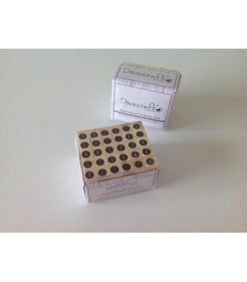 SET OF 30 ALPHABET/PUNCTUATION RUBBER STAMPS - 09