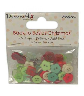 Dove craft Back to Basics Christmas Modern Buttons