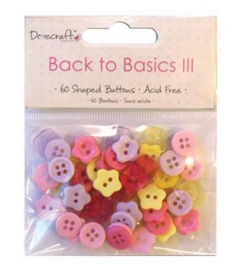 Dovecraft Back to Basics Christmas Traditional 60  Mini Buttons