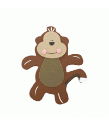 Crafty Common Creatures - Cheeky Monkey - Painted wooden Animals with felt detail.