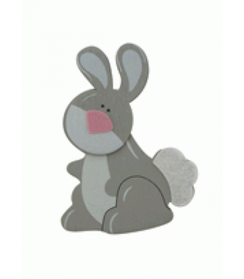 Crafty Common Creatures - Cute Rabbit - Painted wooden Animals with felt detail.
