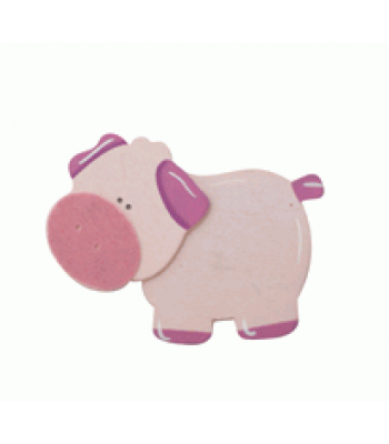 Crafty Common Creatures - Pink Pig - Painted wooden Animals with felt detail.