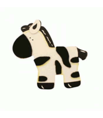 Crafty Common Creatures - Stripey Zebra - Painted wooden Animals with felt detail.