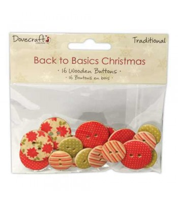 Dovecraft Back to Basics Christmas Traditional - Wooden Button