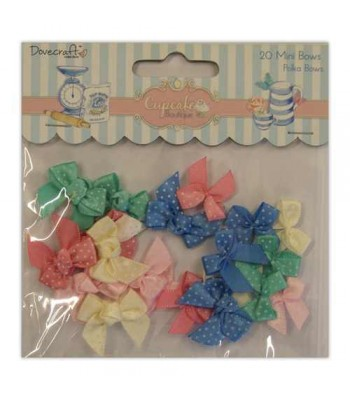 Dovecraft Cupcake Boutique Polka Bow