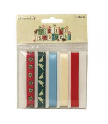 Dovecraft 'Tis the Season Printed Styled Ribbons