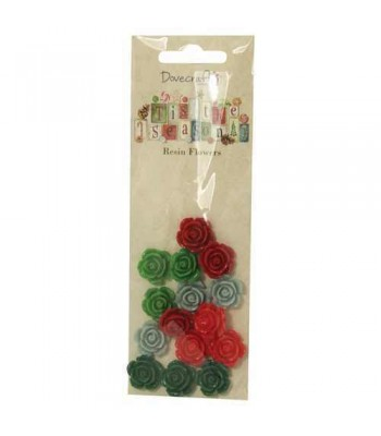 Dovecraft 'Tis the Season Resin Flowers
