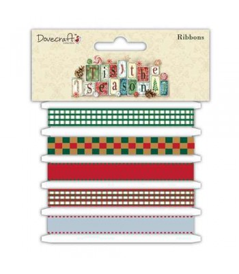 Dovecraft 'Tis the Season Styled Ribbons