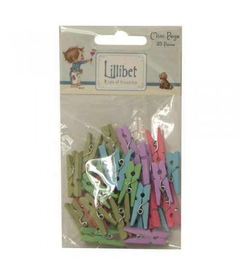 Lillibet Mini Wooden Pegs