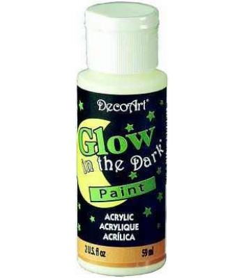 Glow in the Dark DecoArt Med 2oz Craft Paint
