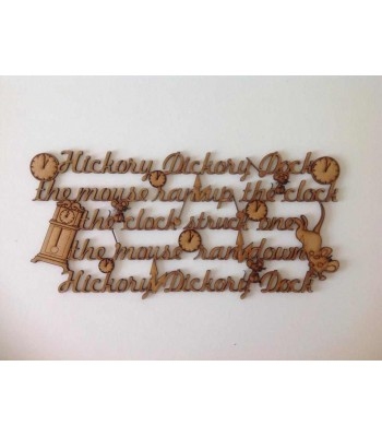 "Laser Cut ""Hickory Dickory Dock"" Nursery Rhyme Sign"