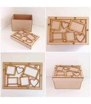 Laser Cut Photo Frame Large Box Frame Top