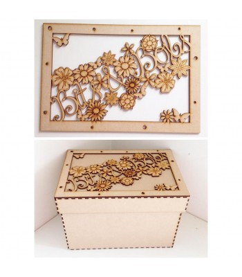 Laser Cut 'Bits & Bobs' Storage Box - Large Box Frame Top