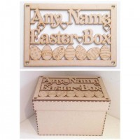 Laser Cut Personalised Easter Box - Large Box Frame Top