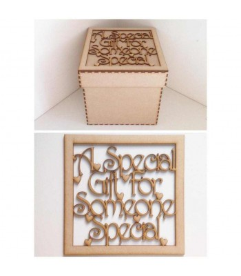 Laser Cut 'A Special Gift For Someone Special' Box Frame Top
