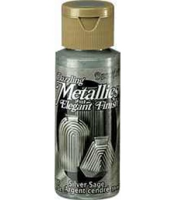 Silver Sage DecoArt Metallic Paint 2oz
