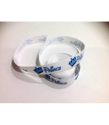 Prince glitter printed ribbon Grosgrain ribbon Price per meter