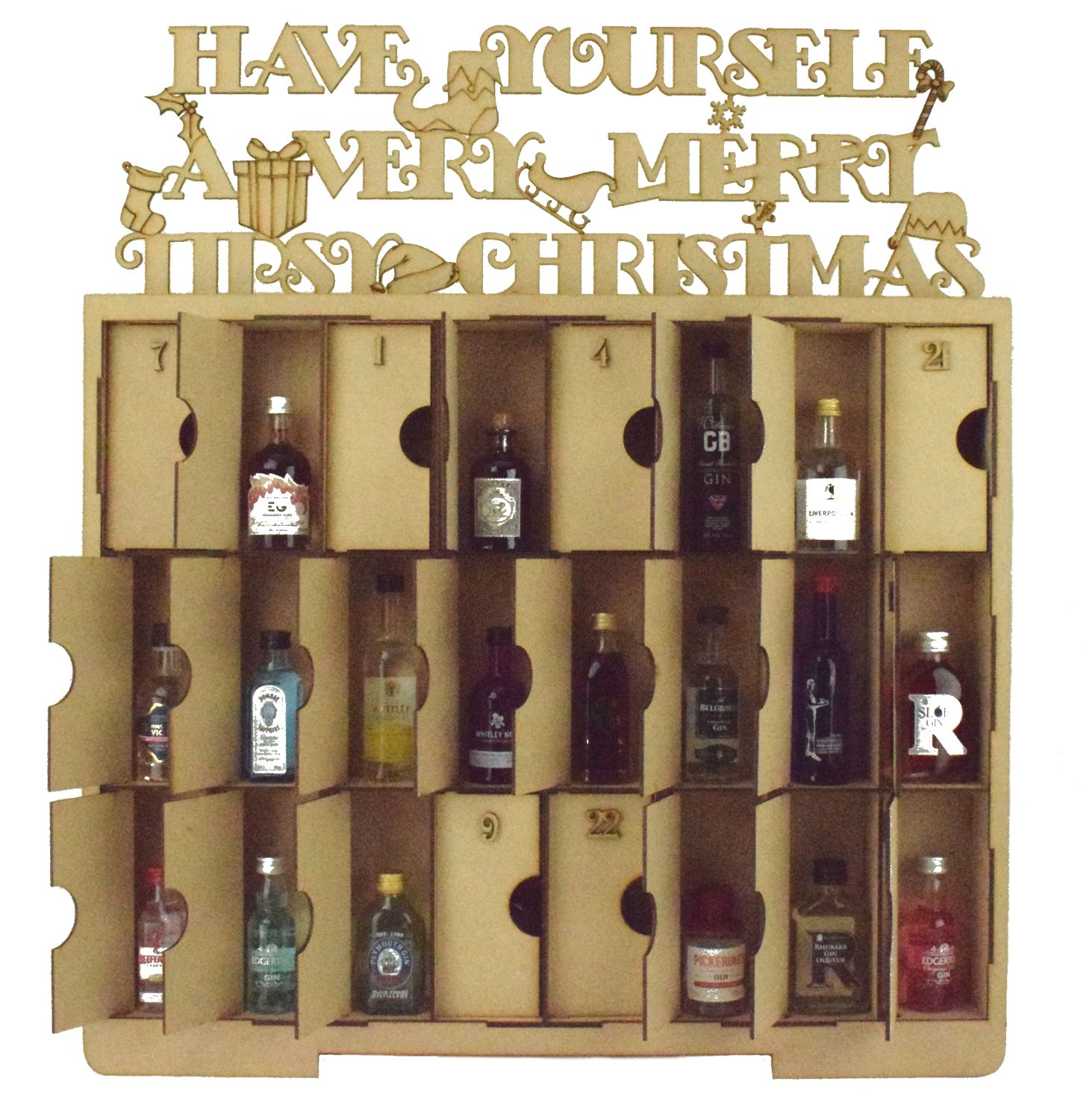 christmas countdown advent calendar beer wine chocolate. Black Bedroom Furniture Sets. Home Design Ideas