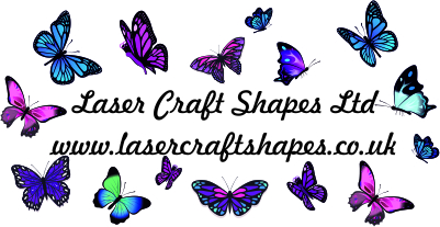 Laser craft shapes
